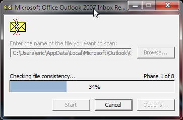 Outlook 2007 and ScanPst.exe